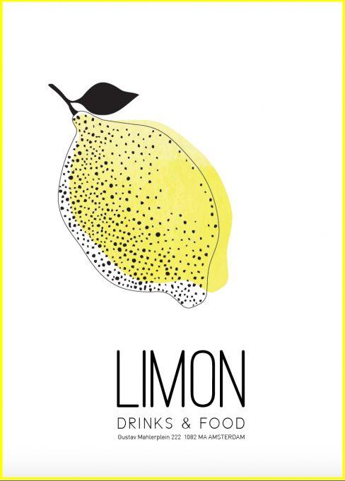 Menukaart-Limon